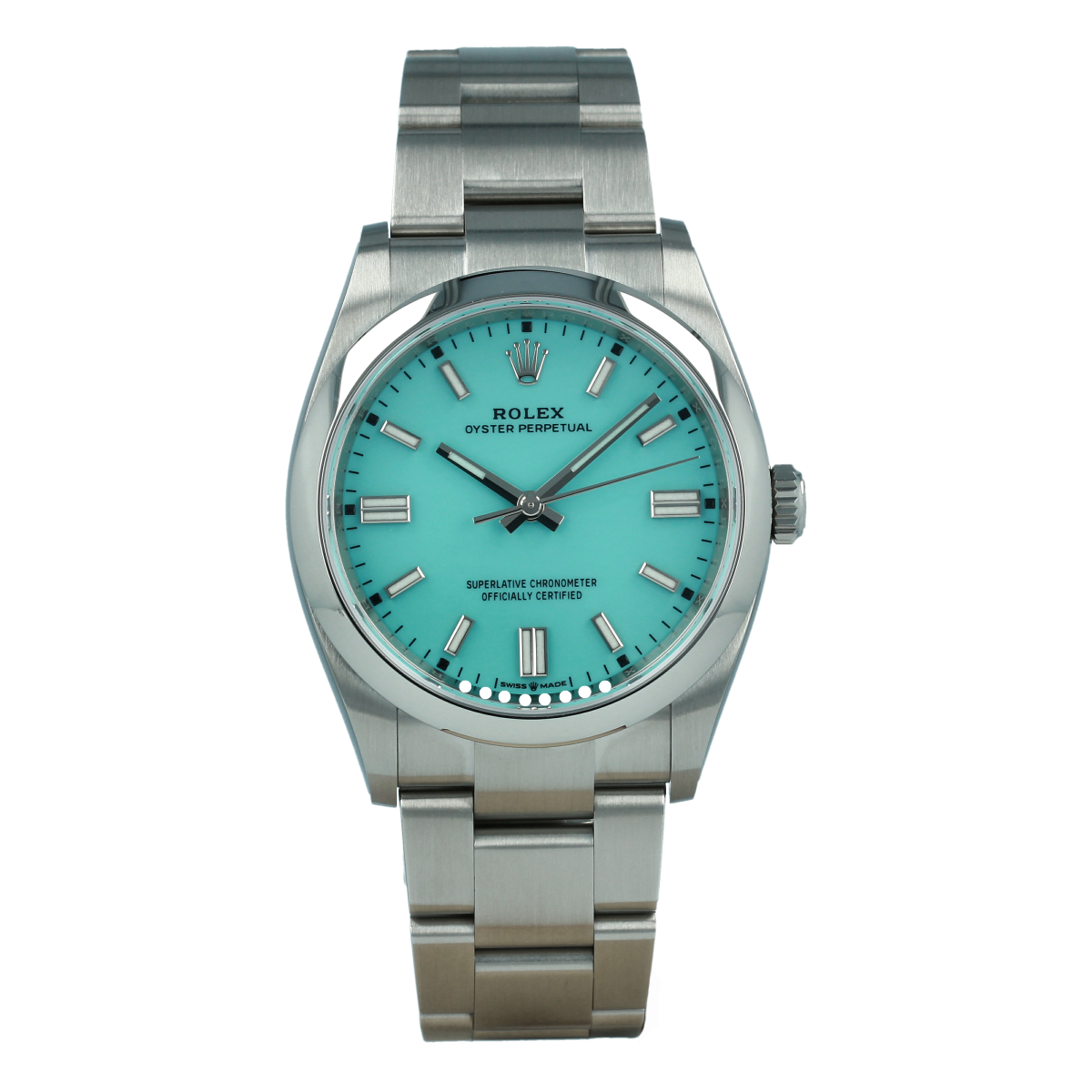 Rolex Oyster Perpetual 126000 36mm Turquoise Dial *New Model* | Buy pre-owned Rolex watch