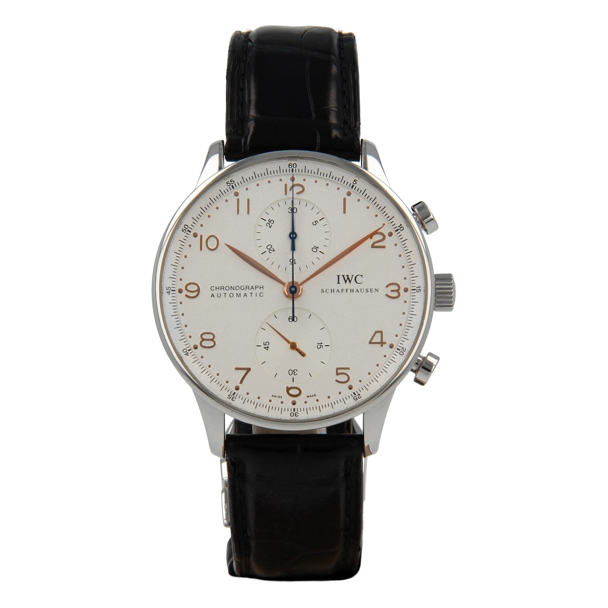 IWC Portugieser Chrono-Automatic IW3714-01 | Buy pre-owned IWC Schaffhausen watch