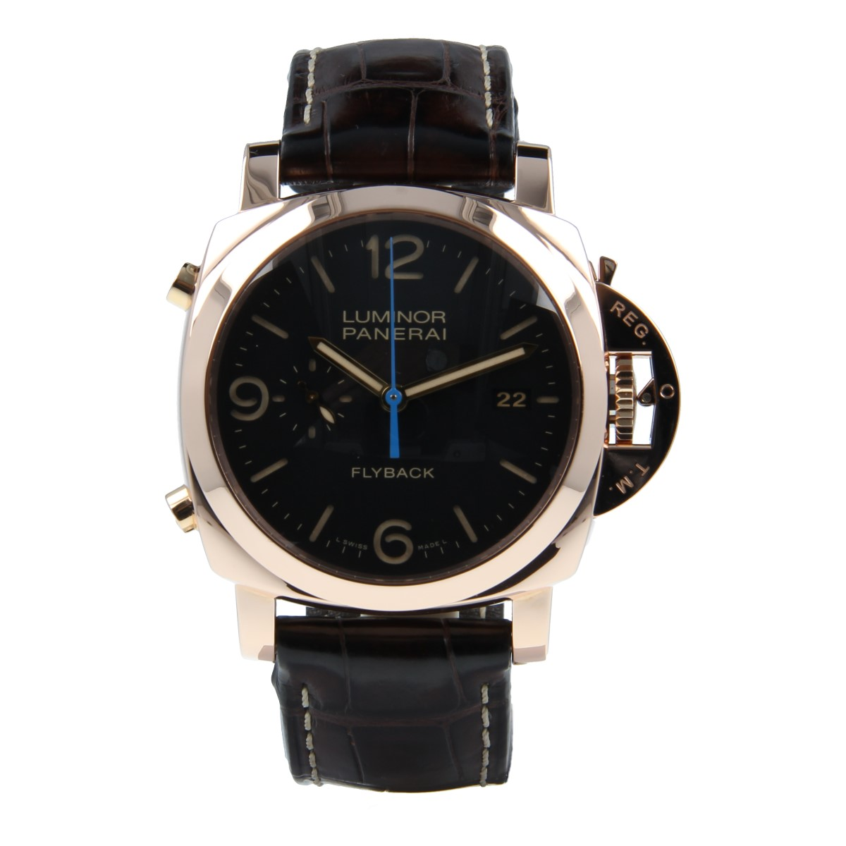 Panerai Luminor 1950 3 Days Chrono Flyback Automatic Oro Rosa 44mm | Comprar reloj Panerai segunda mano