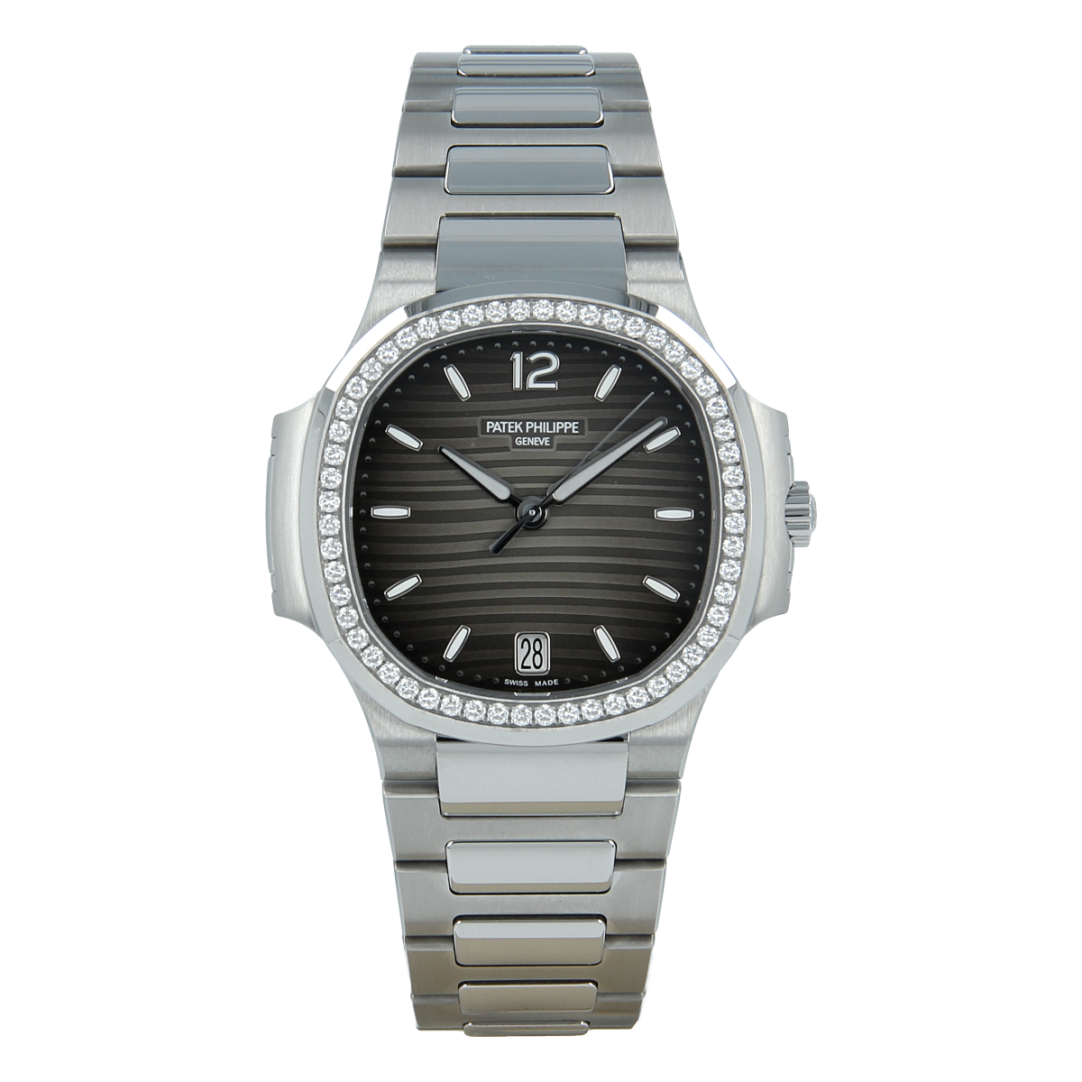 Patek Philippe Ladies' Nautilus Gray Dial with Diamonds Steel *Brand-New* | Buy pre-owned Patek Philippe watch