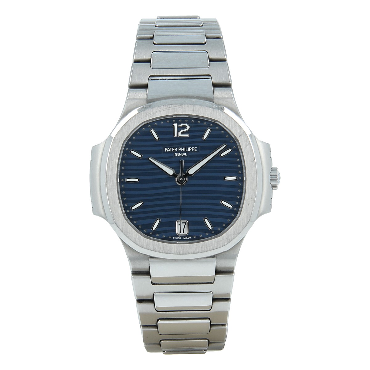 Patek Philippe Ladies' Nautilus Blue Dial Stainless Steel | Buy second-hand Patek Philippe watch