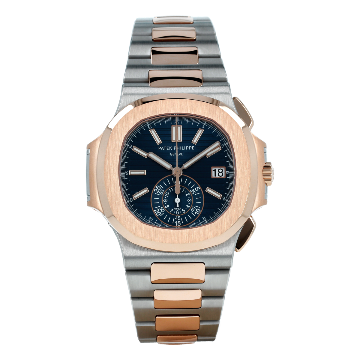 Patek Philippe Nautilus Chronograph 5980/1AR Steel and Rose Gold *Brand-New* | Buy pre-owned Patek Philippe watch