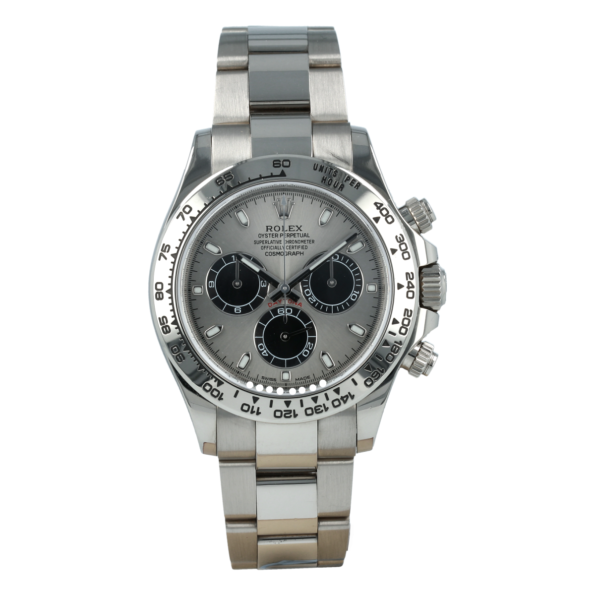 Rolex Cosmograph Daytona 116509 White Gold Steel Dial *Full Set* | Buy pre-owned Rolex watch