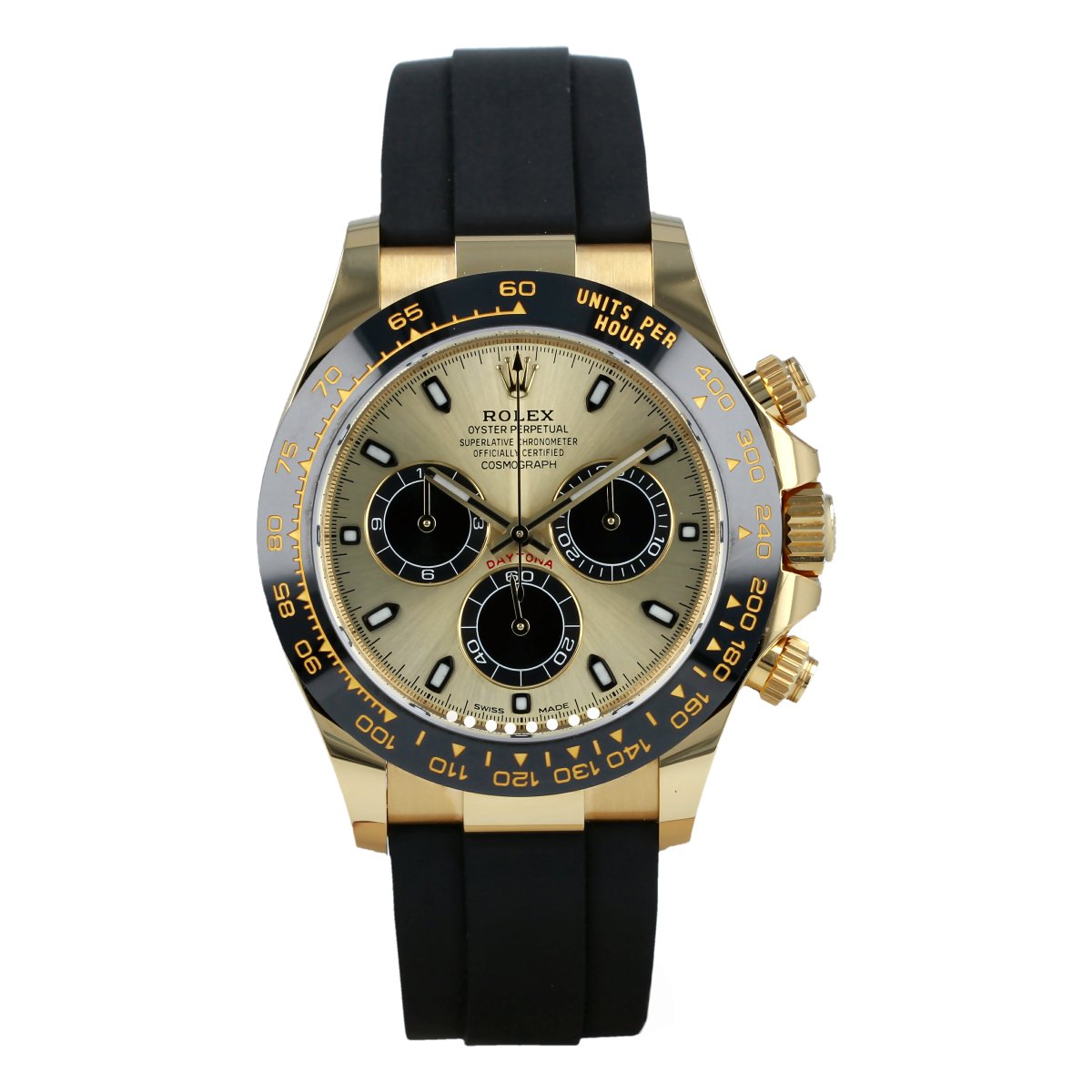 Rolex Cosmograph Daytona 116518LN Yellow Gold Champagne Dial *New with Stickers* | Buy pre-owned Rolex watch