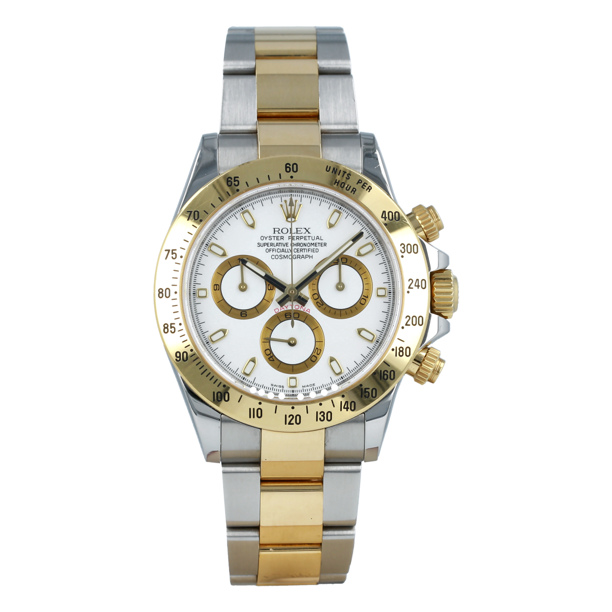 Rolex Cosmograph Daytona 116523 Steel and Yellow Gold *Full Set* | Buy pre-owned Rolex watch