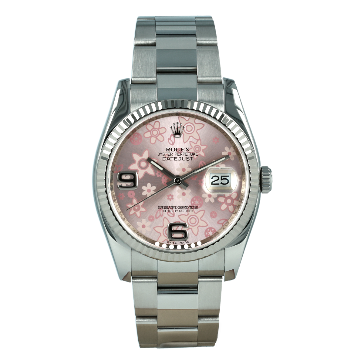 Rolex Datejust 116234 36mm Pink Floral Dial | Buy pre-owned Rolex watch