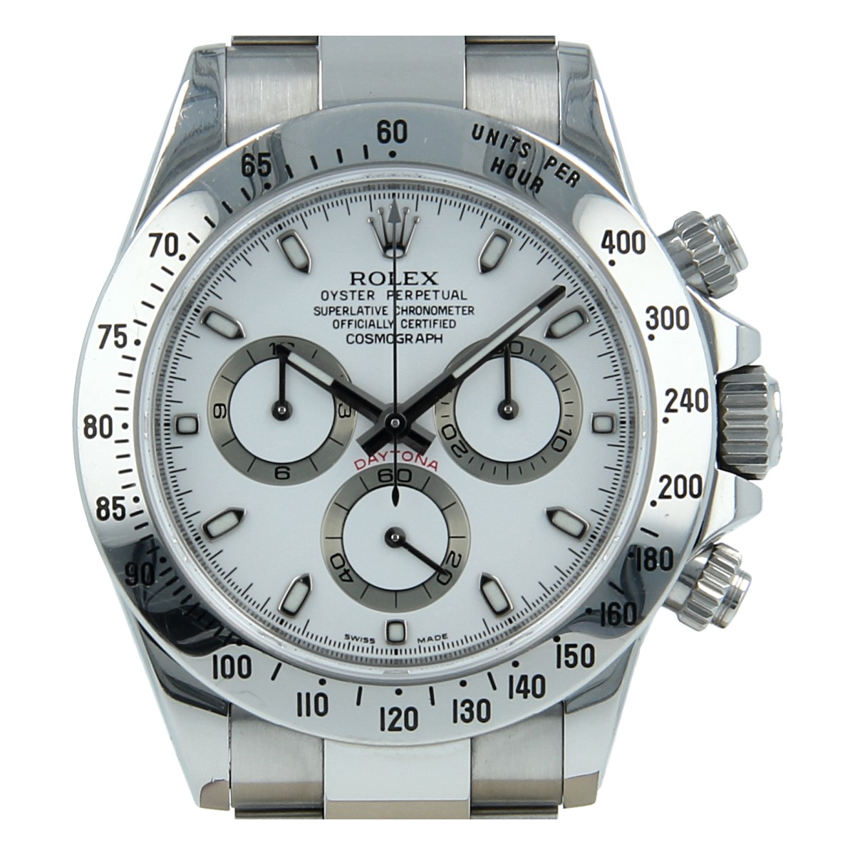 Second Hand Watches >> Rolex Daytona 116520 White Dial Full Set