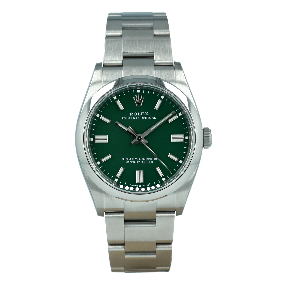 Rolex Oyster Perpetual 126000 36mm Green Dial *New Model* | Buy pre-owned Rolex watch