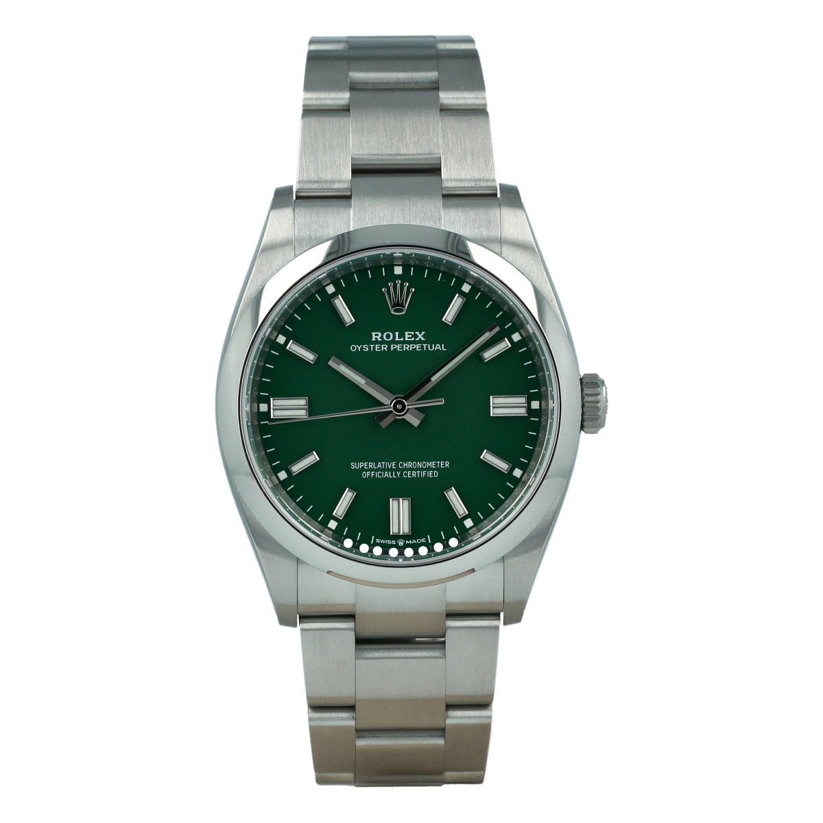 Rolex Oyster Perpetual 126000 36mm Green Dial *New Model* [ID14952]