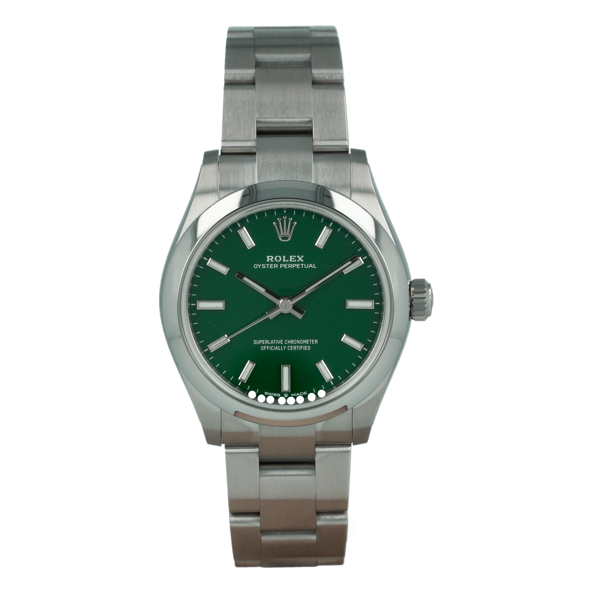 Rolex Oyster Perpetual 277200 31mm Green Dial *Brand-New* | Buy pre-owned Rolex watch