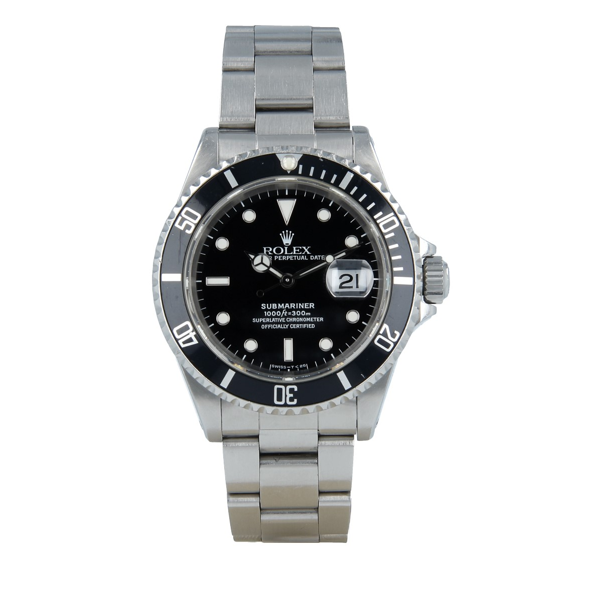 Rolex Submariner Date 16610 Tritium *Full Set* Never Polished | Buy second-hand Rolex watch