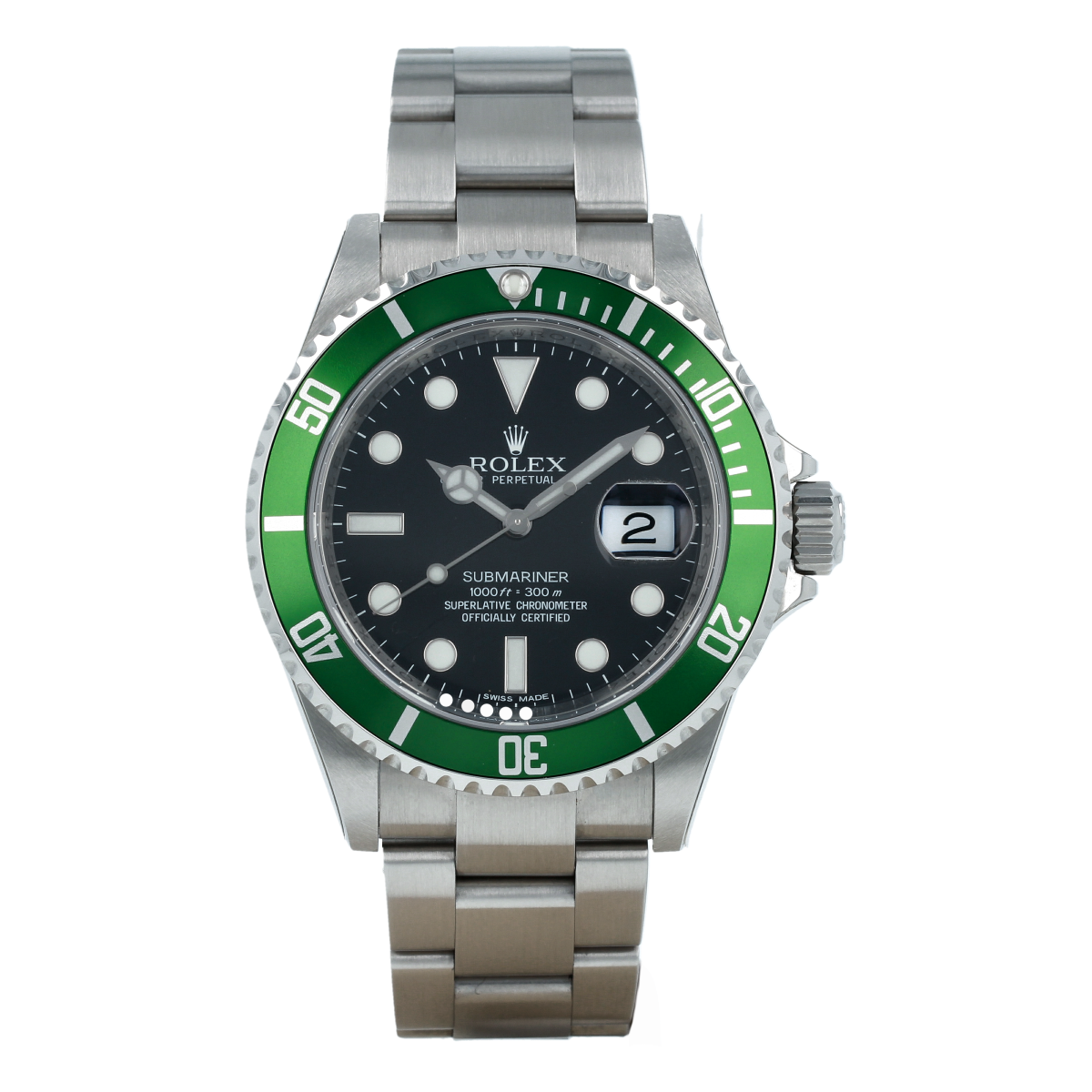 "Rolex Submariner Date 16610LV ""Kermit *NOS With Stickers* (2018) 