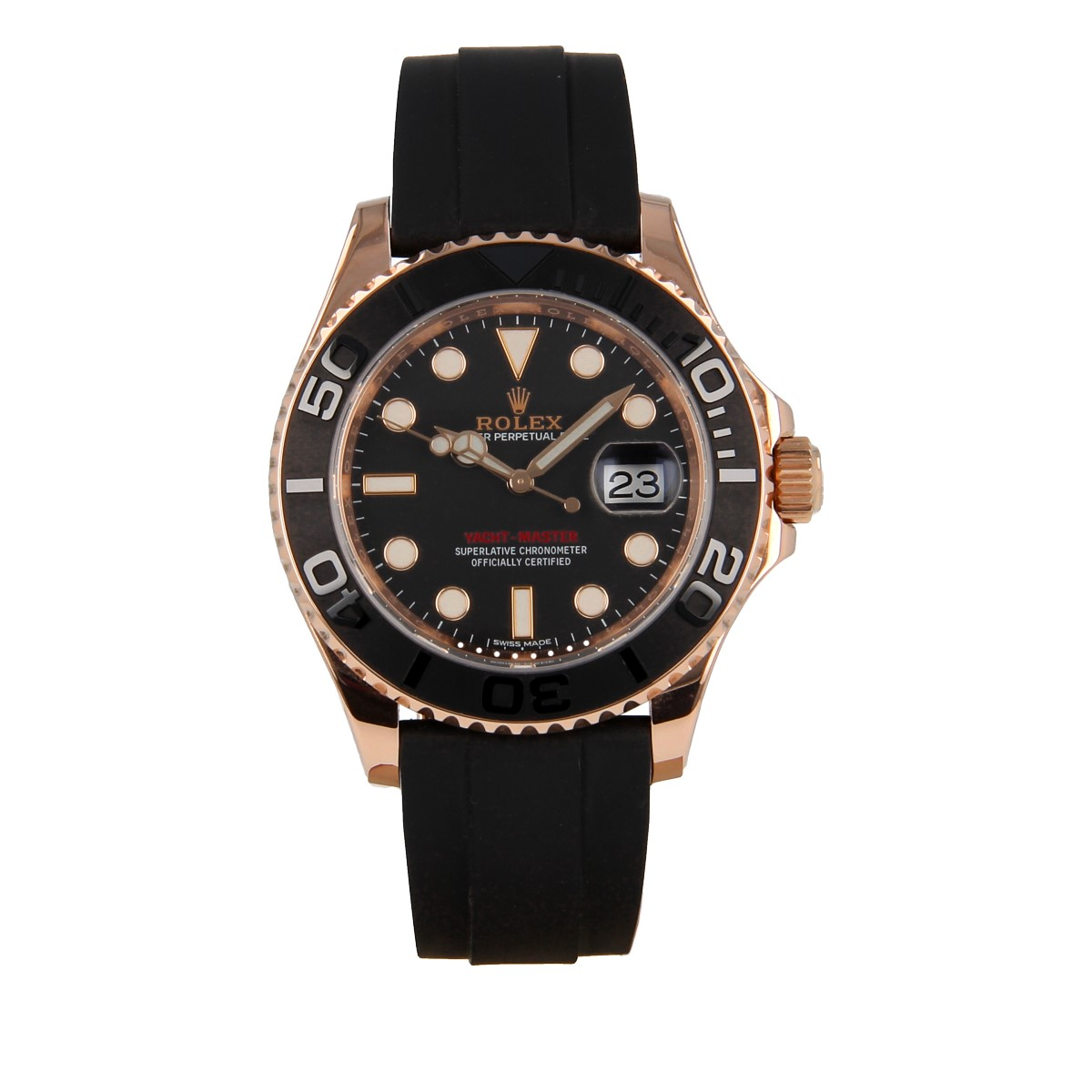 Rolex Yacht-Master 116655 Everose Gold Oysterflex | Buy second-hand Rolex watch