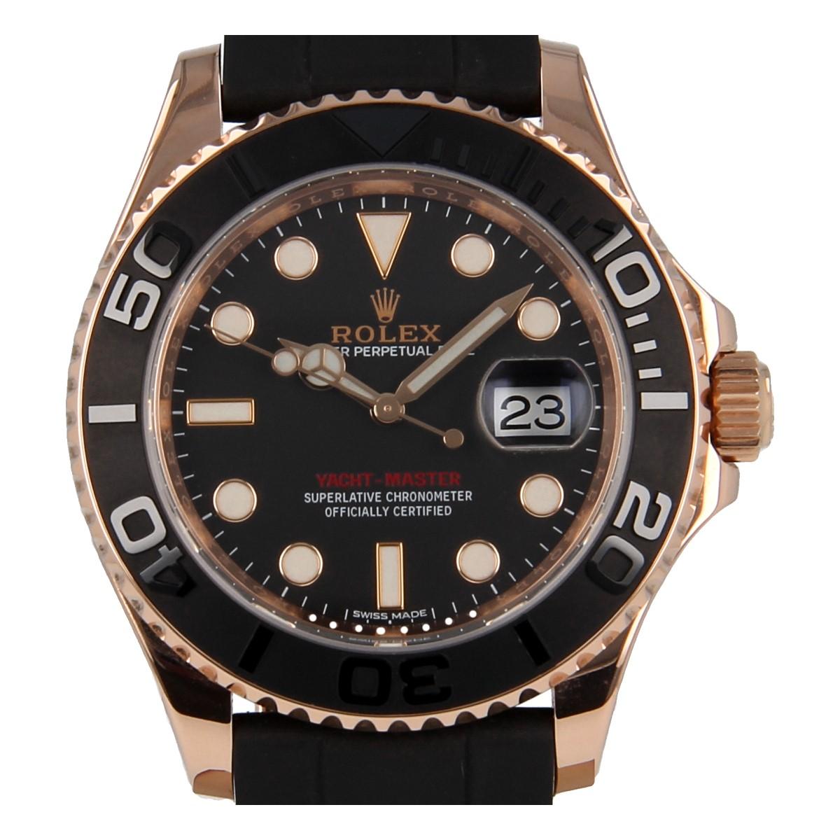 miglior servizio 45ac6 44ef6 Rolex Yacht-Master 116655 Everose Gold Oysterflex