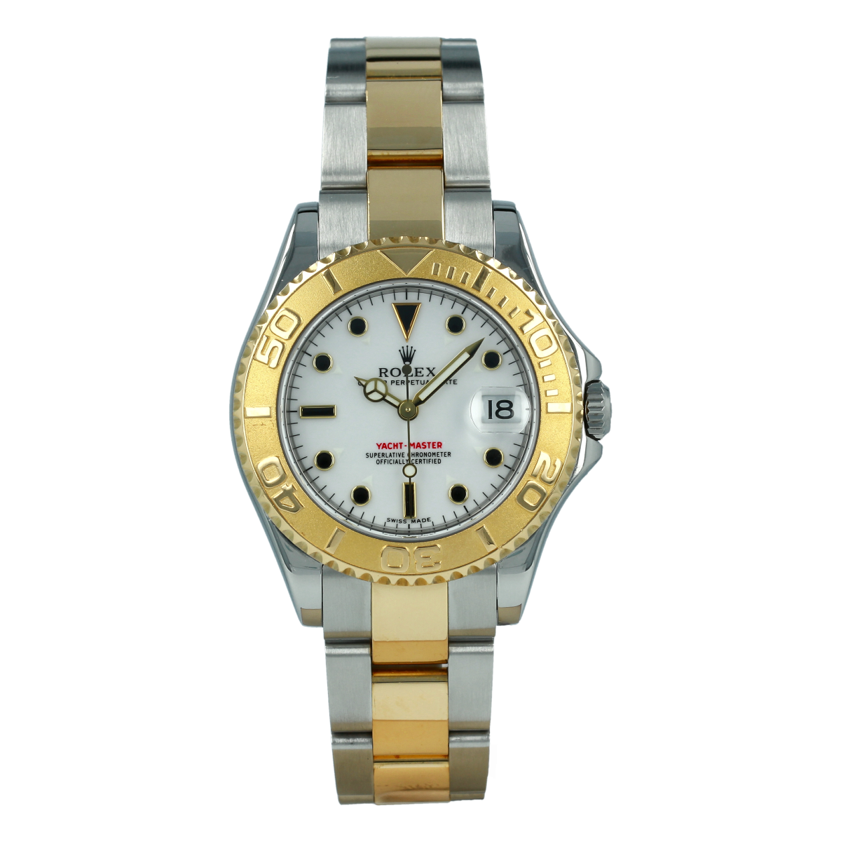 Rolex Yacht-Master 168623 35mm Steel and Yellow Gold | Buy pre-owned Rolex watch