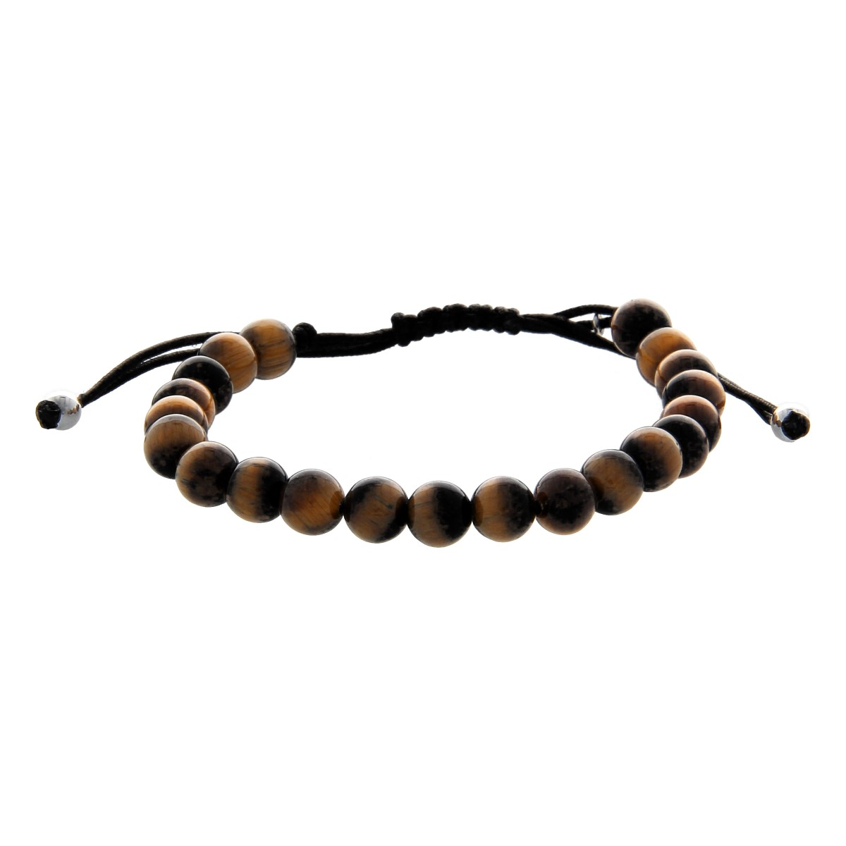 Pulsera de lujo Whiskey on the Rocks Tiger Eye Beads