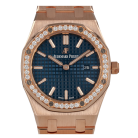 Audemars Piguet Royal Oak Lady Cuarzo 33mm Oro Rosa Bisel de Diamantes [ID14991]